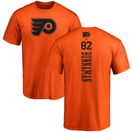 Connor Bunnaman Philadelphia Flyers Men's Orange One Color Backer T-Shirt -
